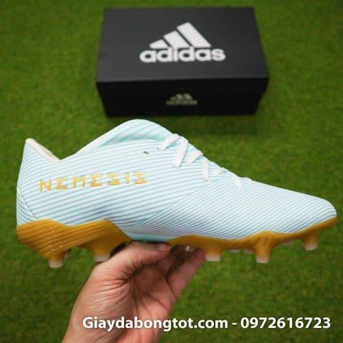 Giay da banh Adidas Nemeziz 19.3 FG trang xanh soc vang 2019 (11)