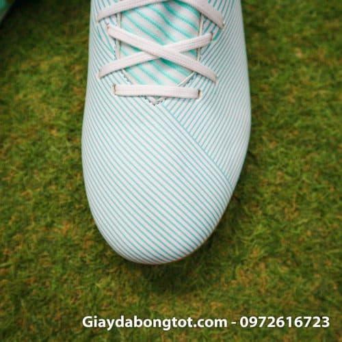 Giay da banh Adidas Nemeziz 19.3 FG trang xanh soc vang 2019 (7)