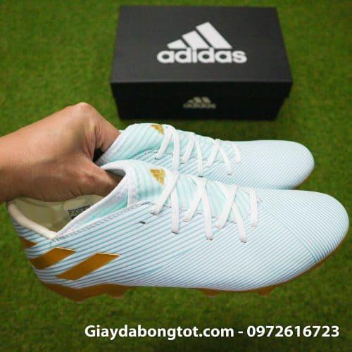 Giay da banh Adidas Nemeziz 19.3 FG trang xanh soc vang 2019 (9)