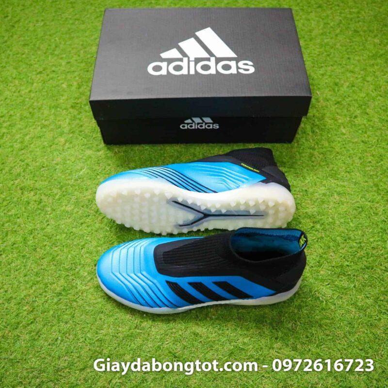 Giay da banh Adidas Predator 19+ TF xanh nhat den khong day (2)