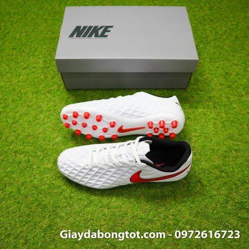 Giay da banh Nike Tiempo 8 Academy FG trang vach do (2)