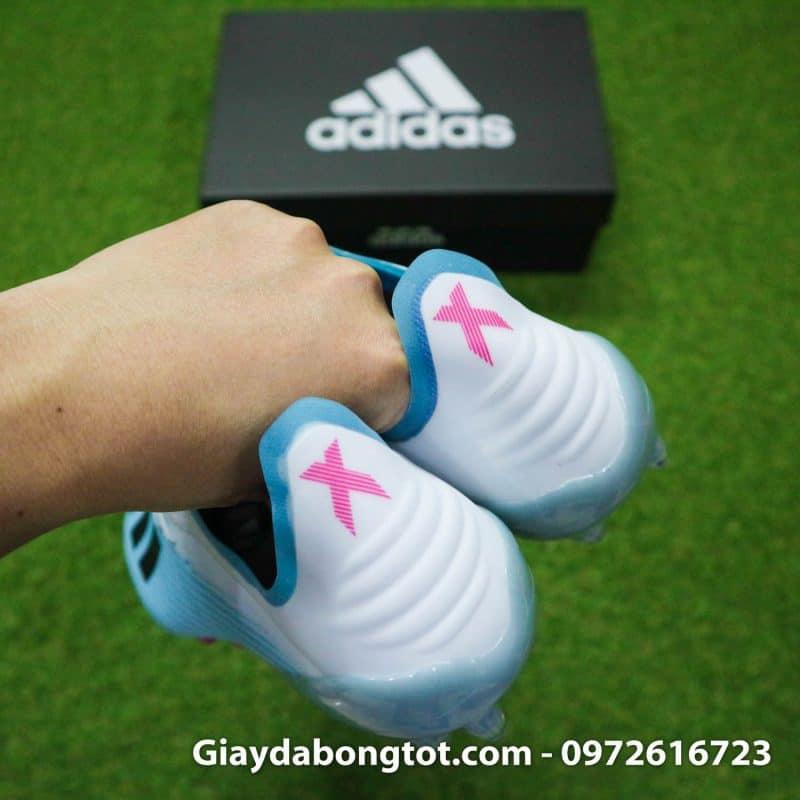 Giay da bong Adidas X19.1 AG xanh nhat trang (1)