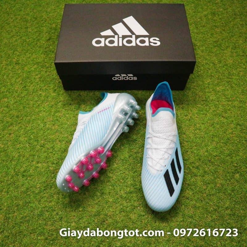 Trải nghiệm giày đá bóng đinh cao trên sân cỏ nhân tạo với Adidas X19.1 AG