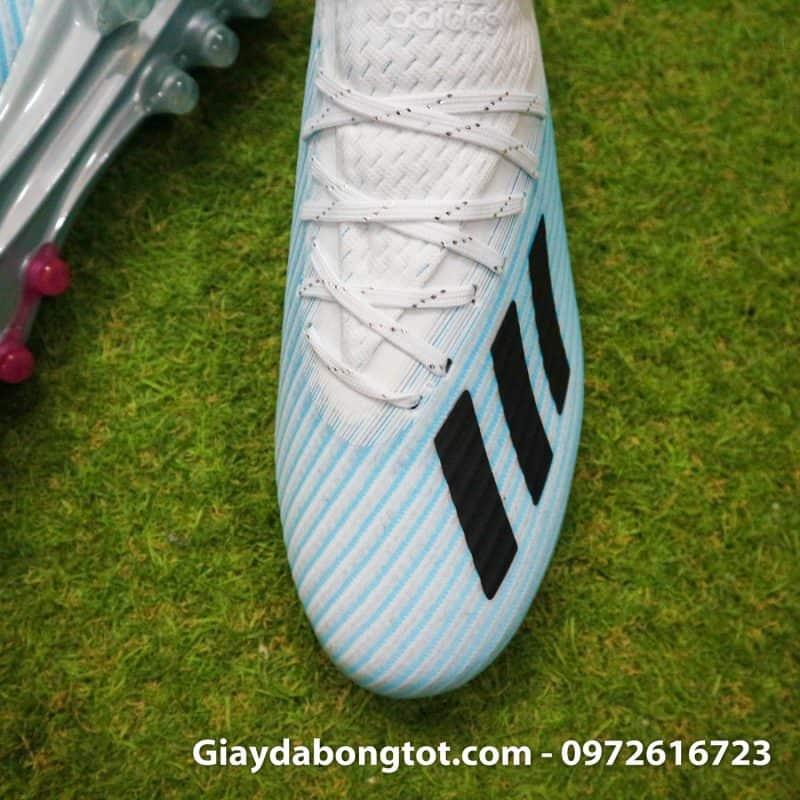 Giay da bong Adidas X19.1 AG xanh nhat trang (7)