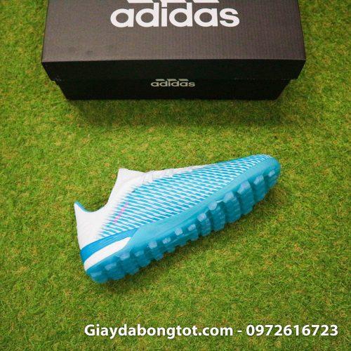 Giay da bong Adidas X19.1 TF xanh nhat co trang Van Hau (10)