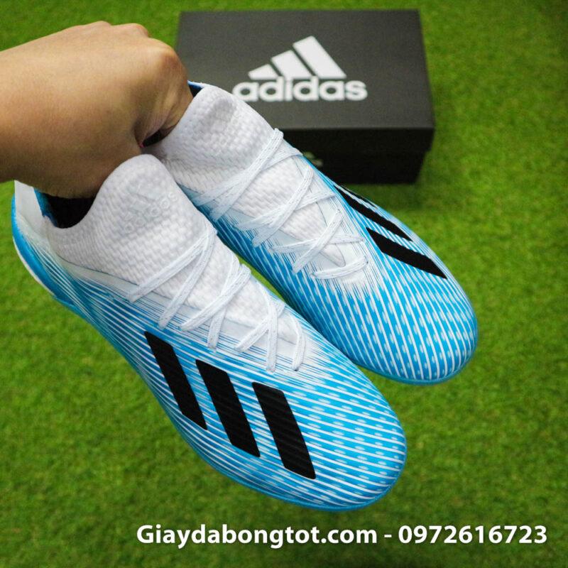 Giay da bong Adidas X19.1 TF xanh nhat co trang Van Hau (12)