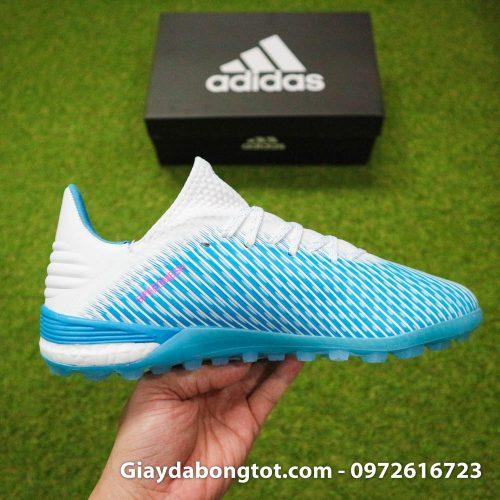 Giay da bong Adidas X19.1 TF xanh nhat co trang Van Hau (14)
