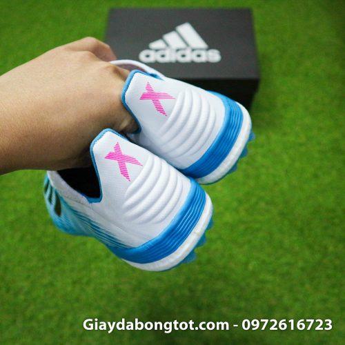 Giay da bong Adidas X19.1 TF xanh nhat co trang Van Hau (16)