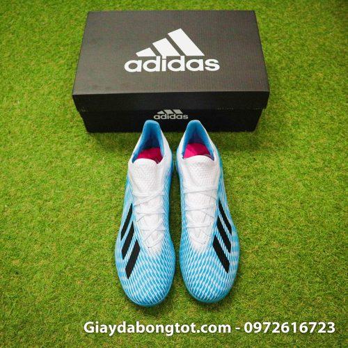 Giay da bong Adidas X19.1 TF xanh nhat co trang Van Hau (17)