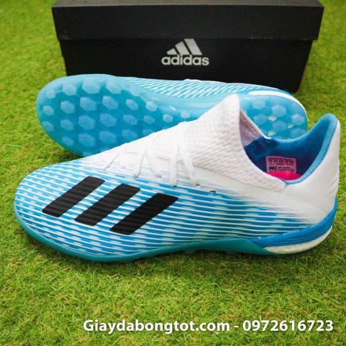 Giay da bong Adidas X19.1 TF xanh nhat co trang Van Hau (3)
