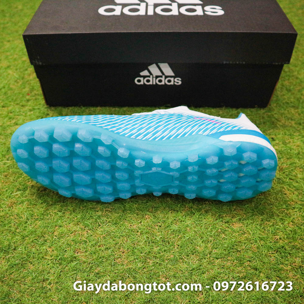 Giay da bong Adidas X19.1 TF xanh nhat co trang Van Hau (4)