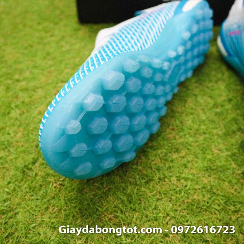 Giay da bong Adidas X19.1 TF xanh nhat co trang Van Hau (6)