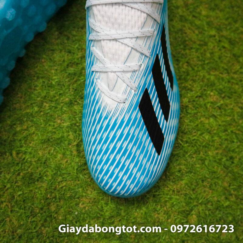 Giay da bong Adidas X19.1 TF xanh nhat co trang Van Hau (7)