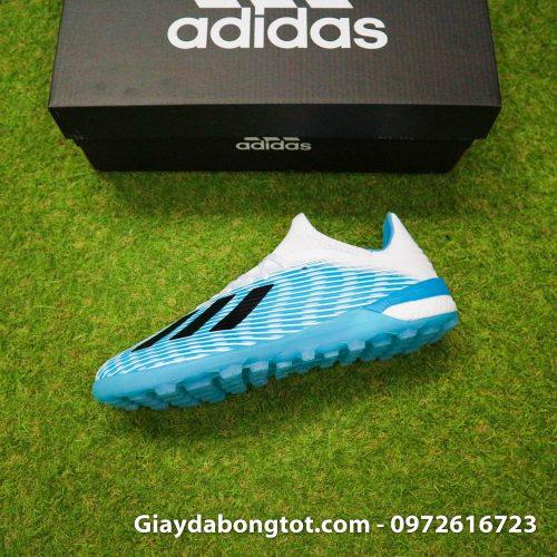 Giay da bong Adidas X19.1 TF xanh nhat co trang Van Hau (8)