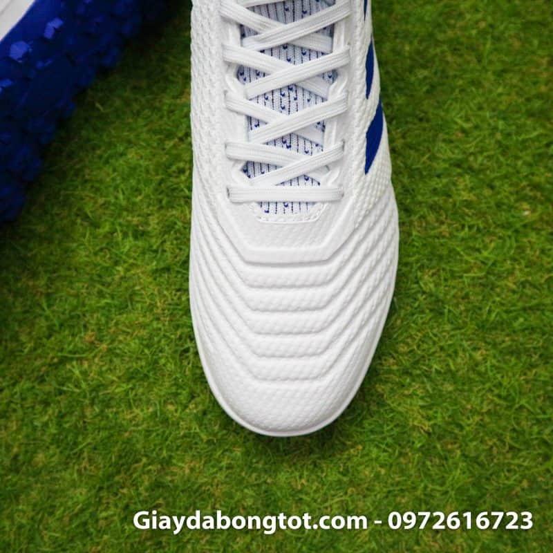 Giay da bong Adidas tre em Predator 19.3 TF trang vach xanh co cao 2019 (7)