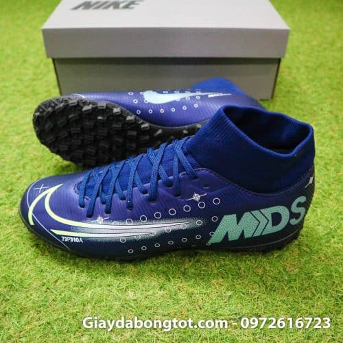 Giay da bong Nike cao co Mercurial Superfly 7 Academy TF Dream Speed tim than (3)