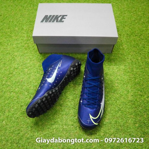 Giay da bong Nike cao co Mercurial Superfly 7 Academy TF Dream Speed tim than (5)