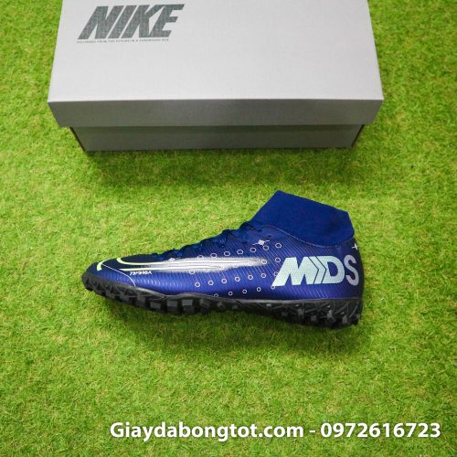 Giay da bong Nike cao co Mercurial Superfly 7 Academy TF Dream Speed tim than (8)