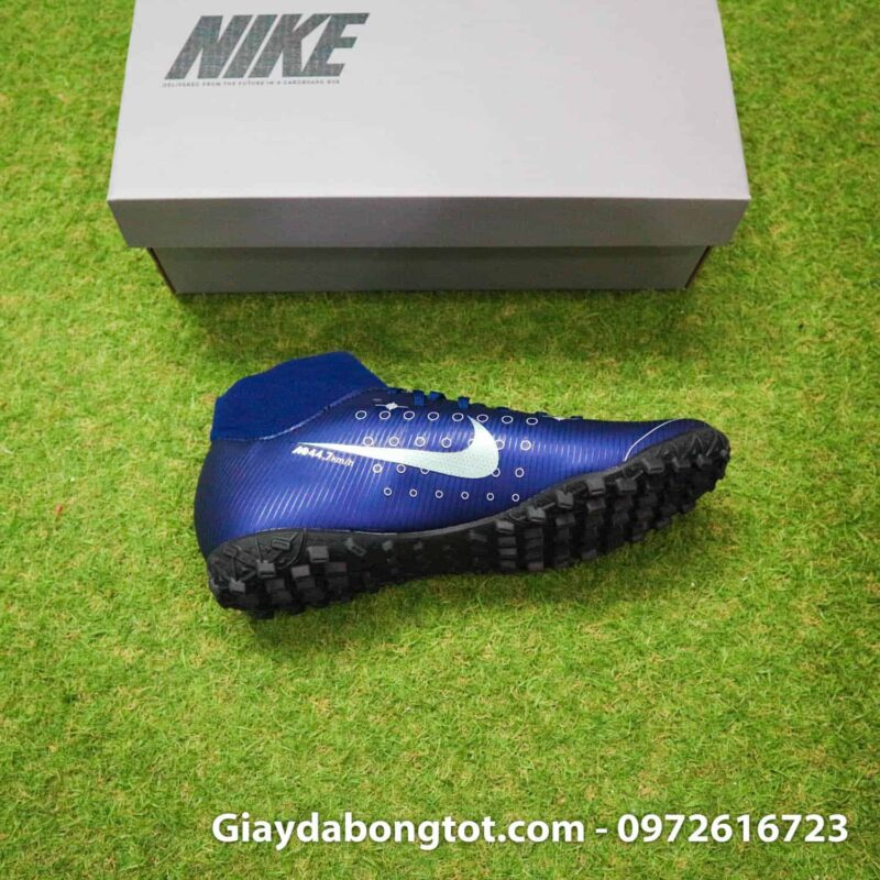 Giay da bong Nike cao co Mercurial Superfly 7 Academy TF Dream Speed tim than (9)