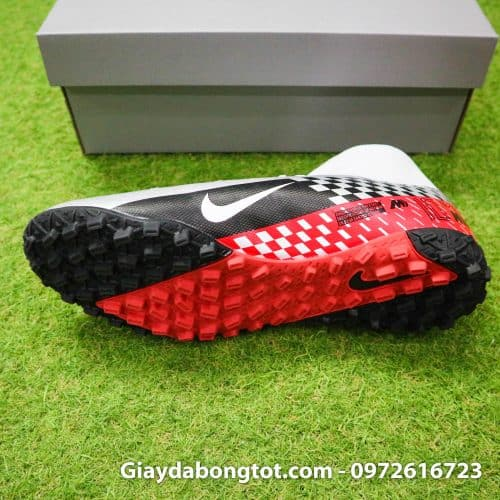 Giay da bong Nike cao co Neymar Mercurial Superfly 7 Academy TF xam do den (4)