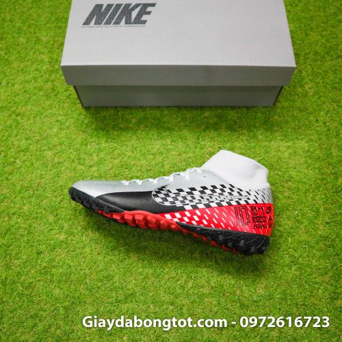 Giay da bong Nike cao co Neymar Mercurial Superfly 7 Academy TF xam do den (8)
