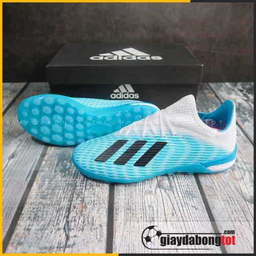 Giày đá bóng Adidas X19.1 TF Xanh nhạt trắng -