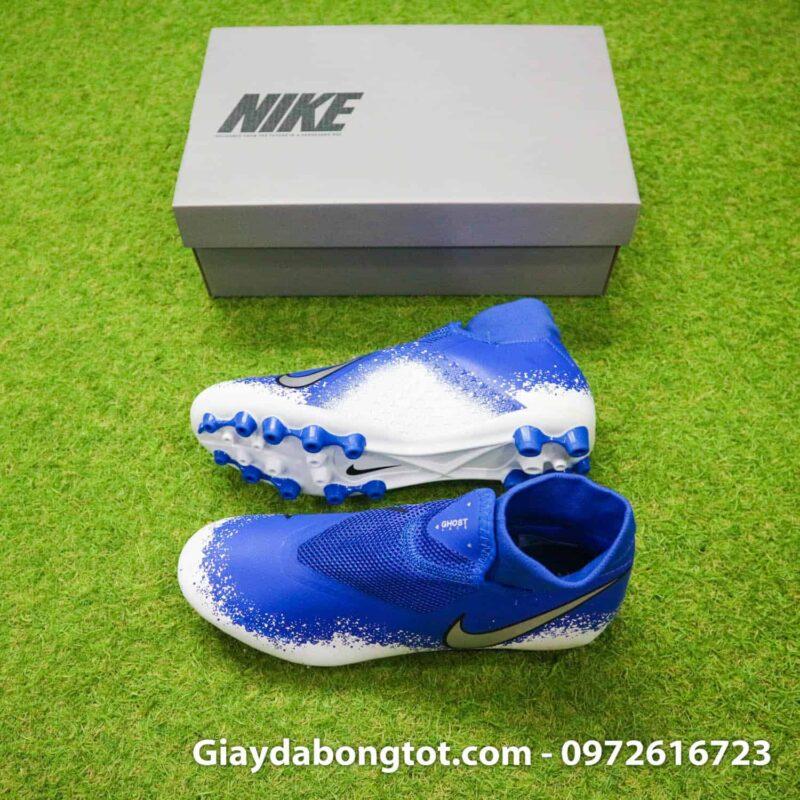 Giày đá bóng Nike Phamtom VSN AG xanh dương trắng che dây