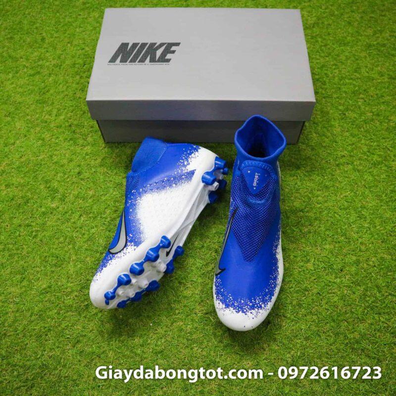 Giay bong da Nike Phantom VSN AG xanh duong trang (4)