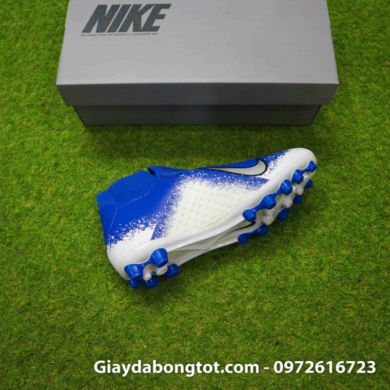 Giay bong da Nike Phantom VSN AG xanh duong trang (8)