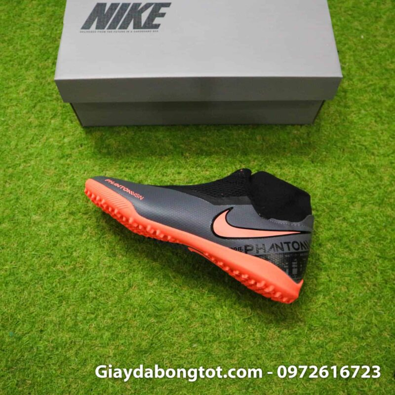 Giay bong da che day Nike Phantom VSN cao co TF den cam (12)