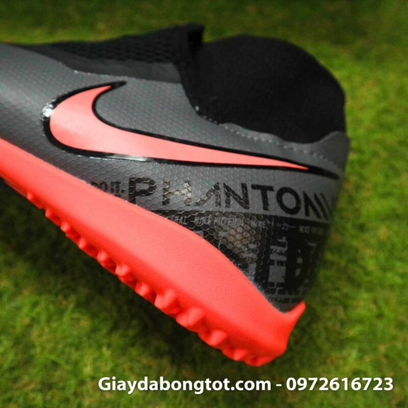 Giay bong da che day Nike Phantom VSN cao co TF den cam (13)