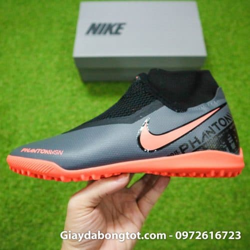 Giay bong da che day Nike Phantom VSN cao co TF den cam (17)
