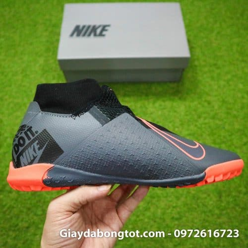 Giay bong da che day Nike Phantom VSN cao co TF den cam (18)