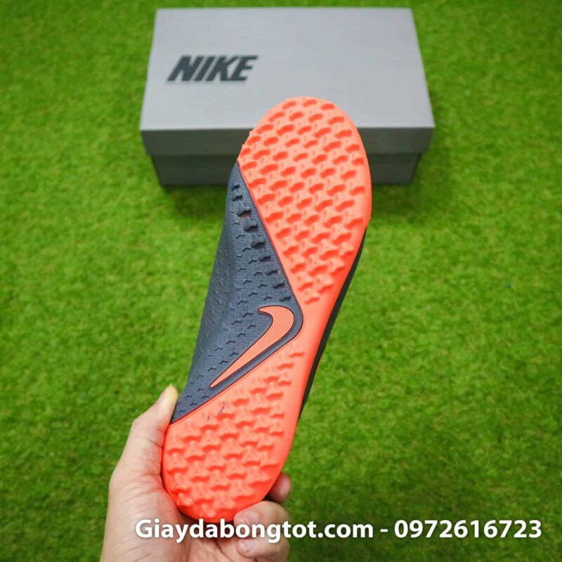 Giay bong da che day Nike Phantom VSN cao co TF den cam (19)