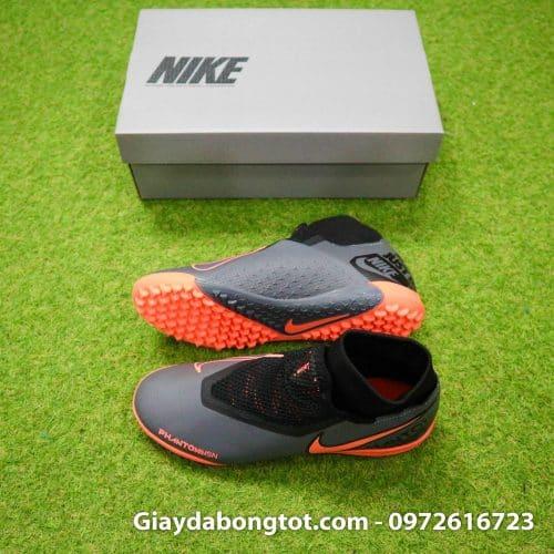 Giày đá bóng che dây Nike Phantom VSN TF cao cổ đen cam