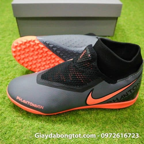 Giay bong da che day Nike Phantom VSN cao co TF den cam (3)
