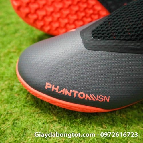 Giay bong da che day Nike Phantom VSN cao co TF den cam (4)