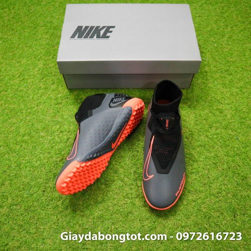 Giay bong da che day Nike Phantom VSN cao co TF den cam (6)