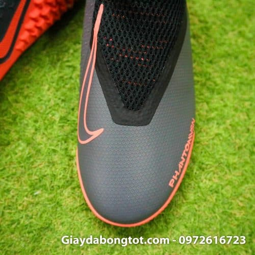 Giay bong da che day Nike Phantom VSN cao co TF den cam (8)