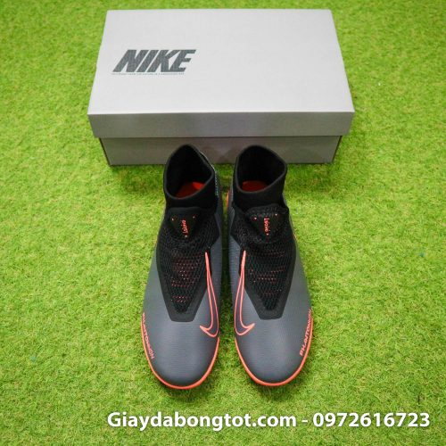 Giay bong da che day Nike Phantom VSN cao co TF den cam (9)