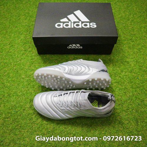 Giày đá banh sân cỏ nhân tạo êm chân Adidas Predator 19.1 TF màu bạc