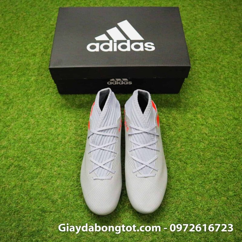 Giay da banh Adidas Nemeziz 19.3 FG xam vach do cao co (6)