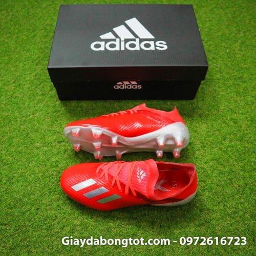 Giày đá ban trẻ em siêu nhẹ Adidas X19.1 FG màu đỏ vạch bạc