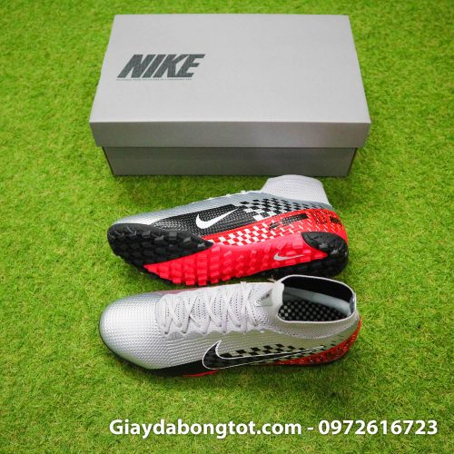 Giày đá banh cao cổ Nike Mercurial Superfly 7 TF Neymar xám đỏ đen