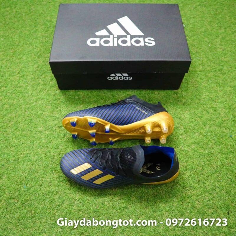 Giày đá bóng trẻ em đinh cao Adidas X19.1 FG xanh đậm vạch vàng