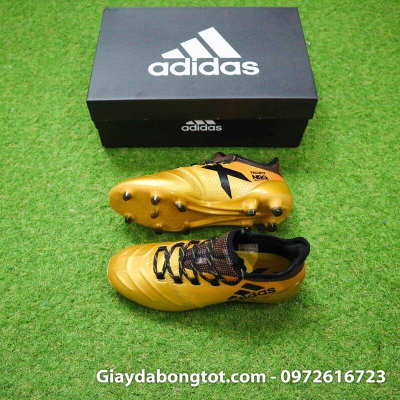 Giày đá bóng da mềm Adidas X17.1 FG vàng đồng