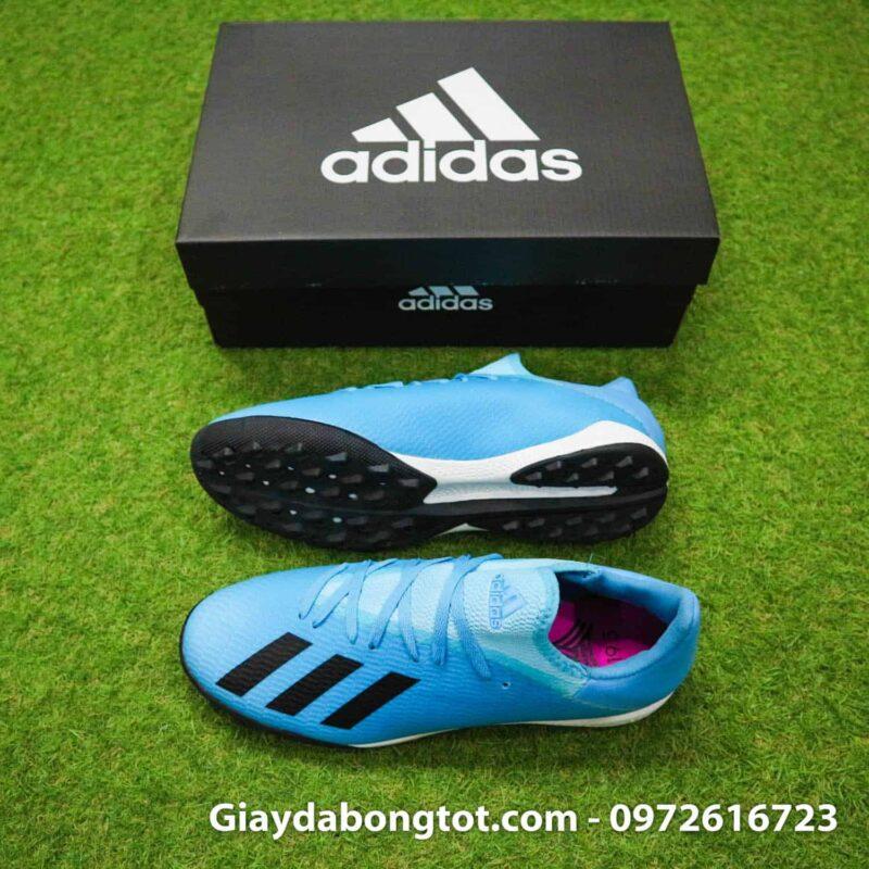 Giày đá bóng sân cỏ nhân tạo Adidas X19.3 TF xanh nhạt bản SF