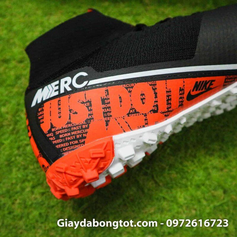 Giay da bong Nike co cao Mercurial Superfly 7 da vai den cam (1)