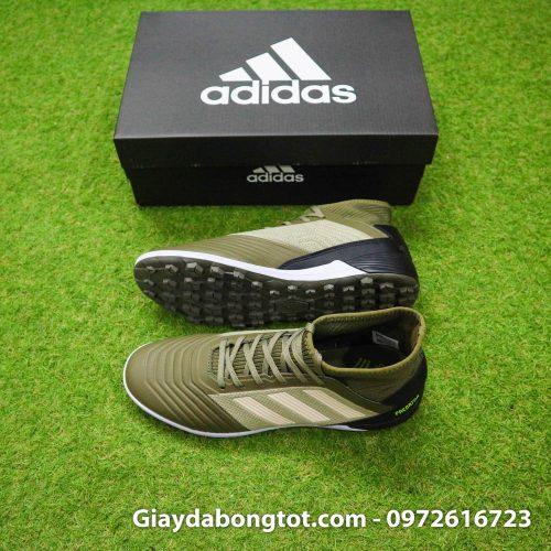 Giày đá banh sân cỏ nhân tạo chân bè Adidas Predator 19.3 TF nâu đen