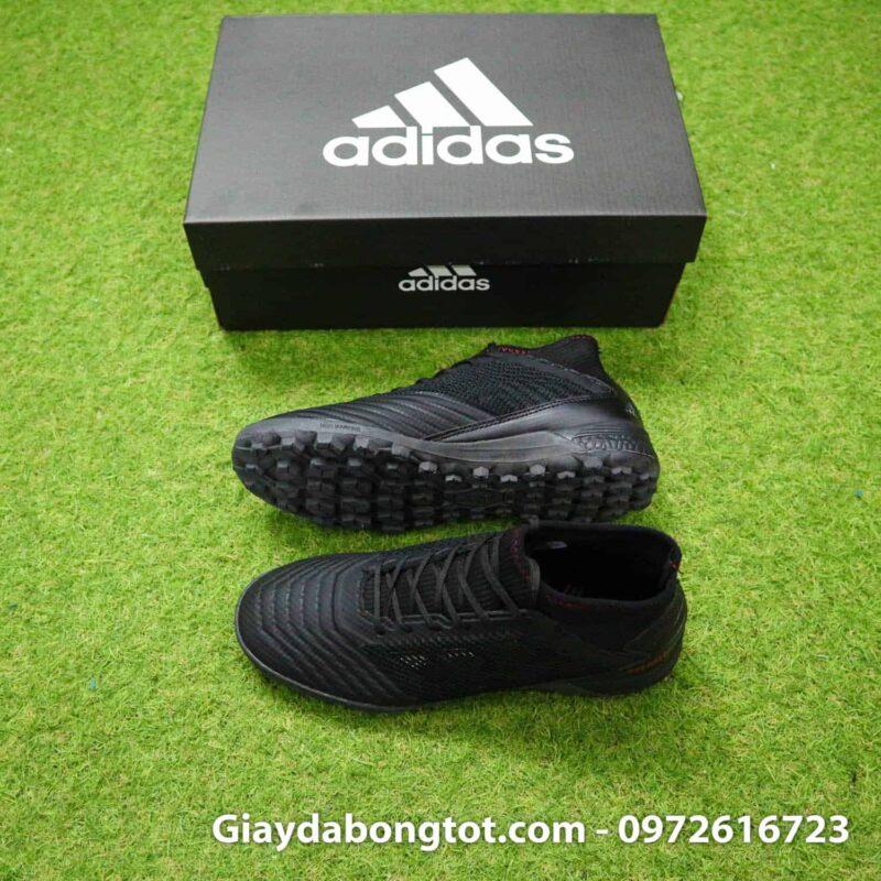 Giày đá bóng sân cỏ nhân tạo đế êm Adidas Predator 19.3 TF đen full toàn thân